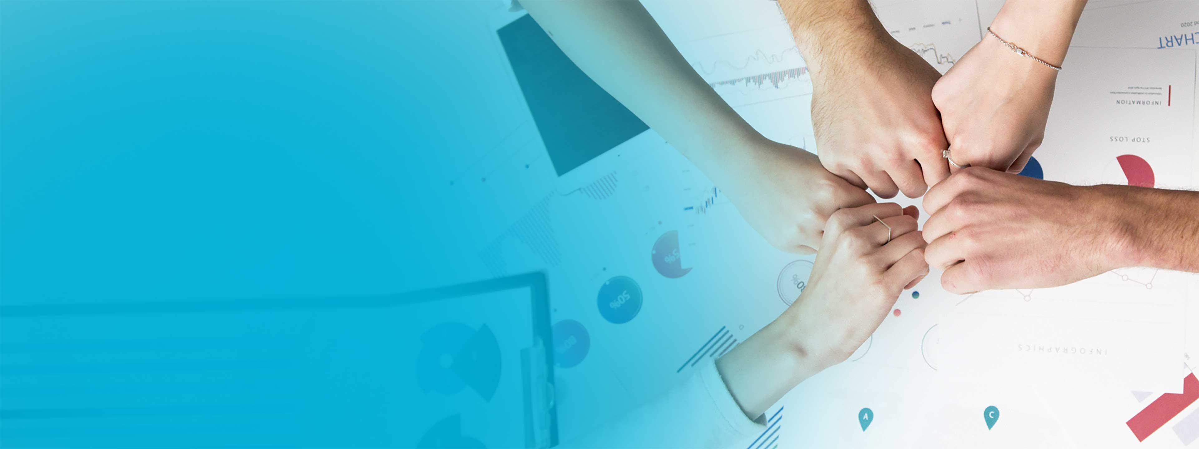 人们手牵手的图像, 代表与映像生物®建立合作伙伴关系。